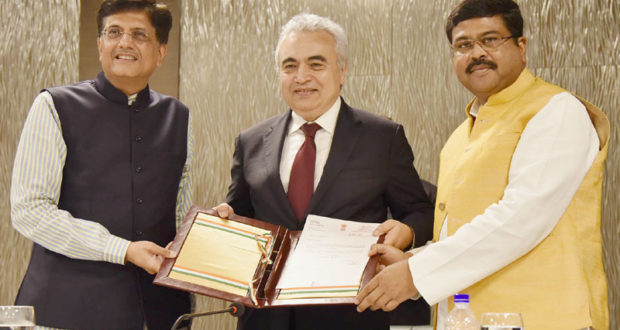 """India declared its """"Association"""" status with the International Energy Agency (IEA)"""