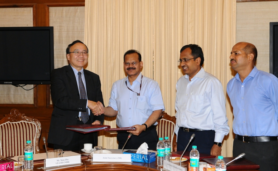 Government of India signed its first loan agreement with the New Development Bank (NDB)