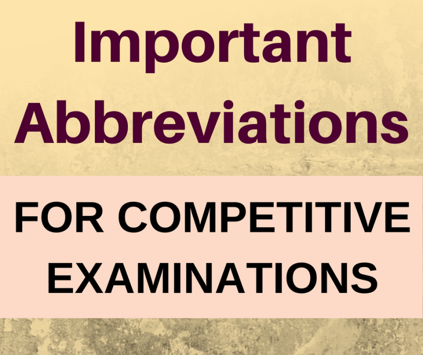 646 Abbreviations you should know for CompetitiveExams