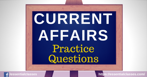 Current Affairs Quiz-18 August 2017