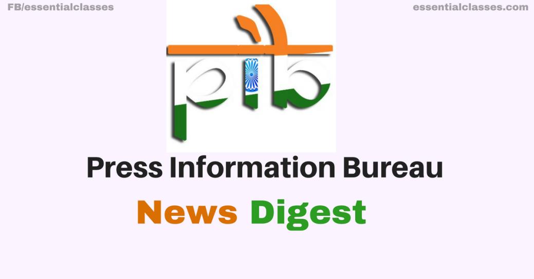 Press Information Bureau News Digest